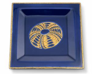 Vide-Poches Carré Standard (Oursins) Fond Bleu