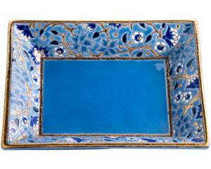 Cendrier Rectangulaire D5670 - Bleu (Héritage)