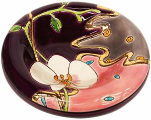Vide Poches Rond PM (Orchidées recoloré)