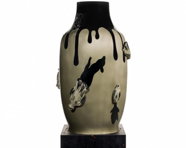Vase Souverain Les 6 Oiseaux Francoise Petrovitch