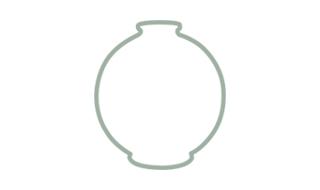 Boule Midi Ø 16 - H. 18