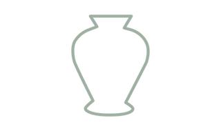 Vases Faïence Fleurs et Arabesques